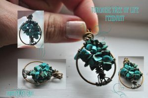 Turqoise Tree of Life Pendant by tanyquil