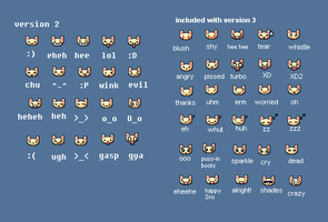 Bunny Emoticon Pack v3 by aimee5