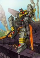 Me Grimlock Have Good Day by wordmongerer