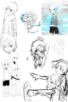 sketch/line dumps by temiji