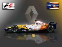 Renault R28 2008 F1 Wallpaper by tmr5555