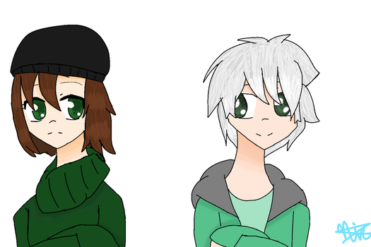 Konami and Tom (medibang paint) by jhosenetteRBLX