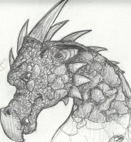 Somber Dragon Bust by Cricket91