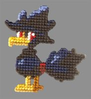 Murkrow needlepoint by twapa