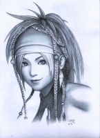 Rikku in Pencil by wengskiii