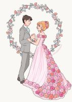Wedding illustration by HollyBell