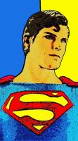 Superman Two Tone Background Pop Art by TheGreatDevin