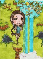 Tomb Raider chibi by WildKurtisTrent