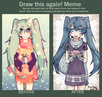 Meme: Before and After [Miku] by Rika-tyan