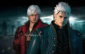 Sons of Sparda ( Dante and Verjil)-DMC4 by kingofshadows26