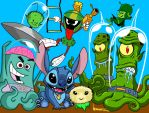 Invasion of the Toon Aliens by ArtNomad