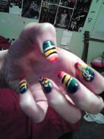The bright side in life, is music. (Nail art) by Chynna97