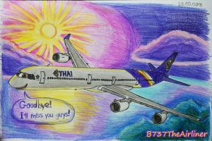 Farewell TG A340-600 by B737TheAirliner