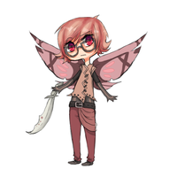 Butterfly Man Adopt by Kadoppia