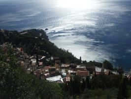a view -taormina, sicily by girl-painter