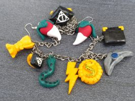 All my Harry Potter jewelry by queenrocks324