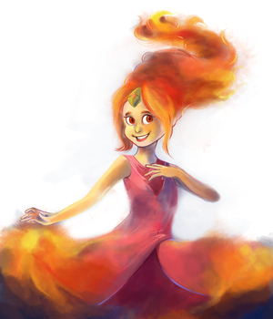 flame princess from adventure time by WingJourneys