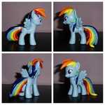 Show-Accurate Mane and Tail Sculpted Rainbow Dash by UniqueTreats