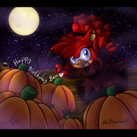 Happy Halloween and birthday, BEA! by MsDinoGoat