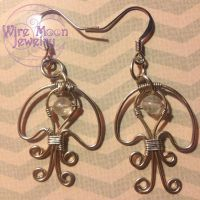 Wire Jellyfish Earrings by WireMoonJewelry