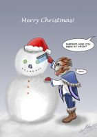 Christmas Time for a turian kid by tillianCatcher