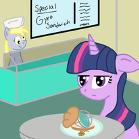 Derpy's sandwich shop by Wolferahm