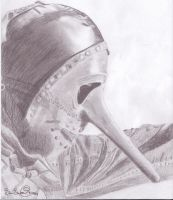 Chris Fehn Drawing by Kuolonenkeli