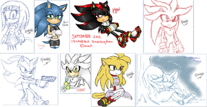 September - iScribble Sketch Art Dump by BlueNeedle-Inu
