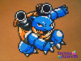 Pokemon Blastoise Bead Sprite by SerenaAzureth