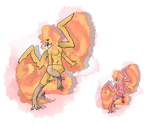 no.146 Moltres by pitch-black-crow