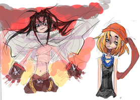 Hao and Anna sketch by javvie