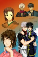 two generations of GinHiji by blackcurrantjam