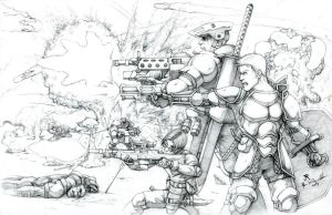 Brothers To The End-Pencil by JREAGANA