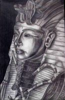 King Tut in pencil by lochnessangie