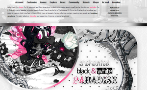Enchanted Black and White Paradise by sosuftw