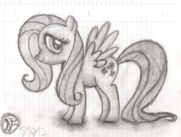 First Fluttershy Sketch by AncientOwl