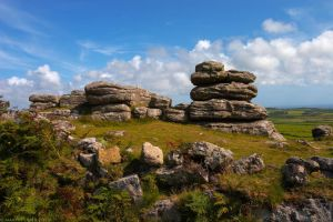 Rosewall Hill Tor, Cornwall by runique