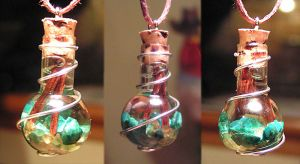 Magic Vial - Forests Pendant by Izile