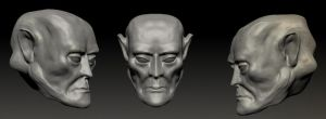 First-zbrush-head by riazkhan