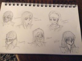 Sketches of other MK OC's #2 by XSkylarPawsX