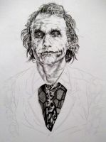 Heath Ledger  The Joker by BismarSantiago
