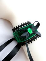 Emerald Green Cuff by Lincey