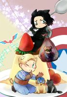 bucky and captain by nananagi