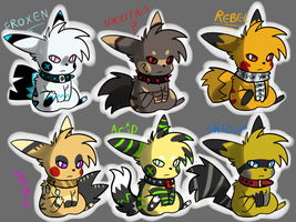 Pikachu Adopts CLOSED by Thiefing