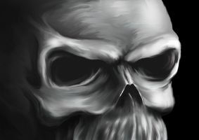 speed painting skull...again by blackgabriel