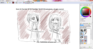 -CHIBI Commission PREVIEW for PiwyLullaby, WIP. by Leeleechanlee