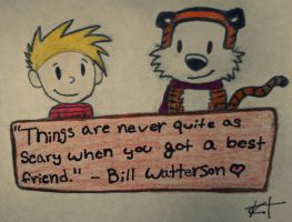 Calvin and Hobbes by thefaultinourstars