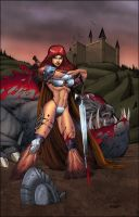 Red Sonja colored by SplashColors
