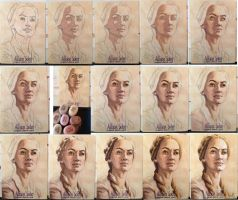 GoT Sketch Card Process by AllisonSohn