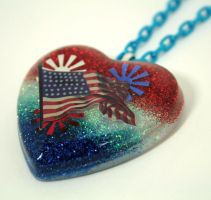 Flag necklace by Metatronis